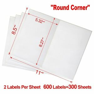 Label 600 Adhesive Paypal Ebay Shipping Labels Ups Usps 2 Per Sheet 8 5 X 5 5