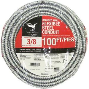 Afc Cable Systems 3 8 X 100 Ft Flexible Steel Conduit