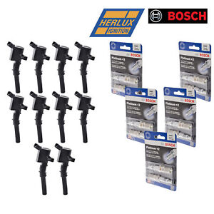 10 Herko B029 Ignition Coils For Ford Lincoln Mercury And Bosch Spark Plugs 4305