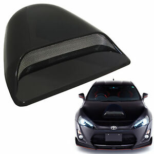 Universal Jdm Style Decorative Hood Scoop Smoke Black K10 Air Flow Intake Cover