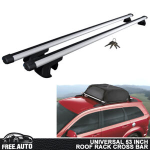 Universal Roof Rack Cross Bar Luggage Carrier Aluminum 53 Adjustable