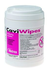 Metrex Caviwipes Multi purpose Disinfectant Wipes Case Of 1920 New