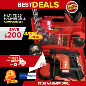 Hilti Te 25 Hammer Drill Display Free Laser Meter Extras Fast Shipping