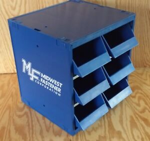 Commercial Midwest Fastener Parts Organizer Cabinet W 6 Bins Drawer Dividers