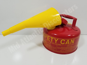 1 Gallon Eagle Safety Gas Can Meets Osha Nfpa Code 30 Requirements W spout