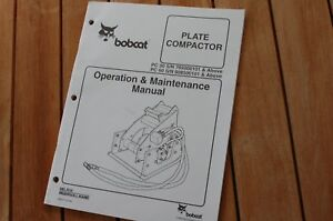 Bobcat Pc30 Pc60 Plate Compactor Owner Operator Operation Maintenance Manual Pc