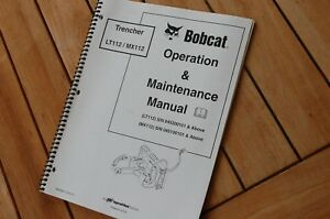 Bobcat Lt112 Mx112 Trencher Owner Operator Operation Maintenance Manual Ditcher