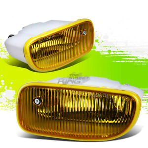 Yellow Tinted Oe Bumper Fog Lights Lamps Pair For 99 01 Jeep Grand Cherokee Wj