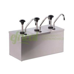 4 Pumps update Cpd 206 Condiment Pump Dispenser W mirror Finish