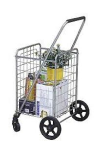 Small Collapsible Shopping Cart Collapsing With Wheels Rolling Trolley Utility