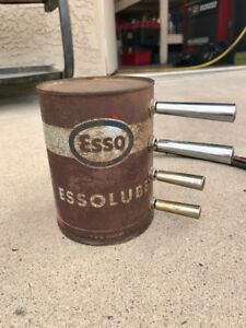 Vintage Esso Oil Can Fbss Air Ride Or Hydraulic Switch Box Rat Rod