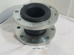 New Stainless Steel 4 Flange Rubber Expansion Joint Epdm Single Sphere