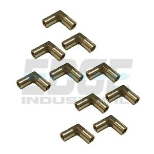 10 Pack 1 2 Hose Barb Elbow 90 Degree Brass Pipe Fitting Union Gas Fuel Wog