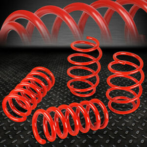 For 15 18 Ford Mustang 1 Drop Front rear Suspension Lowering Coil Springs Red