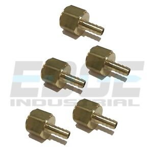 5 Pack 3 8 Hose Barb X 3 4 Female Npt Brass Pipe Fitting Npt Thread Fuel Wog