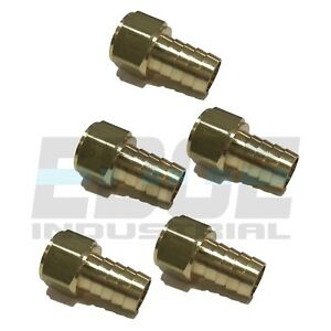 5 Pack 5 8 Hose Barb X 1 2 Female Npt Brass Pipe Fitting Npt Thread Fuel Wog