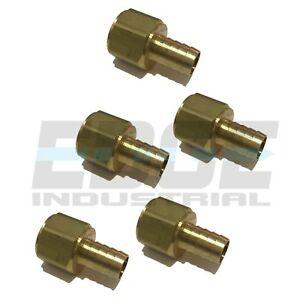 5 Pack 5 8 Hose Barb X 3 4 Female Npt Brass Pipe Fitting Npt Thread Fuel Wog