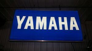 Large Electric Lighted Double Sided Yamaha Sign Outdoor
