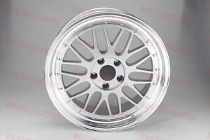 18 Lm Style Silver Face Lip Wheels Rims Fits Bmw 3 Series 328 330 335 Staggered
