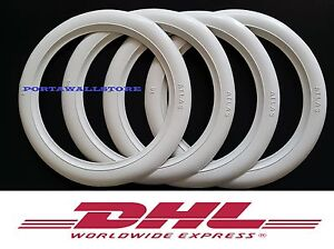 R12 X4 Hot Rod White Wall Tire Trim Rubber Port A Walls Set4 14