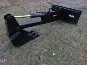 Skid Steer Stiff Arm Backhoe Attachment With 12 Tooth Bucket Ship 199