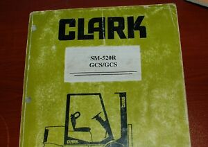 Clark Gcs Gps Forklift Owner Service Repair Maintenance Manual Shop Owner Book