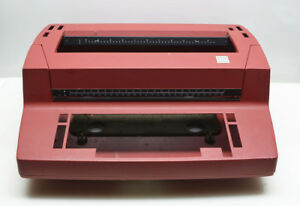 Ibm Selectric Ii Electric Typewriter Lipstick Red Case Only Beautiful Condition