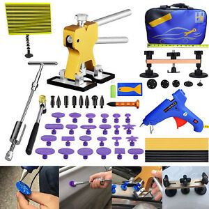 Auto Body Paintless Dent Removal Puller Tools Tap Down Kits Hail Damage Repair