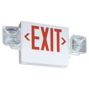 Lithonia Lighting Thermoplastic Integrated Led Emergency Exit Sign fixture Unit