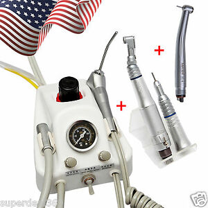 Usa Dental Turbine Unit Work Air Compressor High low Speed Handpieces 4h Sa