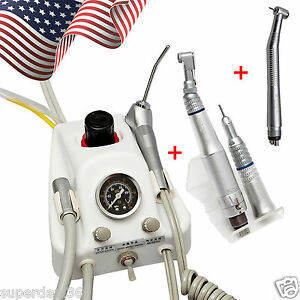 Usa Portable Dental Turbine Unit Sn4 High low Speed Handpiece Kit 4 Hole 2018