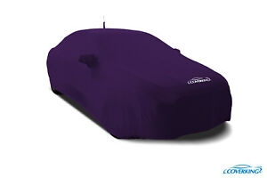 Coverking Satin Stretch Indoor Custom Car Cover For Dodge Challenger In Purple
