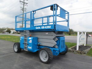2005 Genie Gs4390rt 43 Rough Terrain Scissor Lift Manlift 43ft Platform Lift