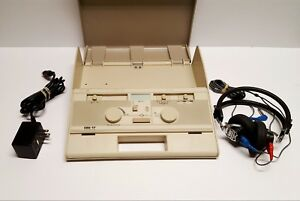 Audiometer Gsi 17 grason Stadler w Headset And Power Supply tested working