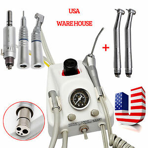 Dental Turbine Unit Work W Air Compressor High Slow Speed Handpiece 4hole Yp4