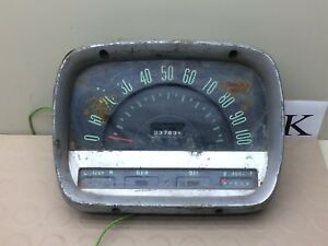 Classic Vintage Raised Instrument Gauge Cluster Speedometer