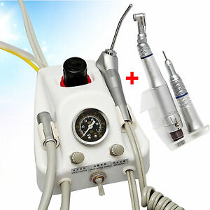 Dental Turbine Unit Work W Air Compressor Slow Low Speed Handpiece Kit 4 Hole