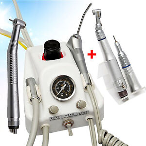 Dental Turbine Unit Sn4 Work W Air Compressor Nsk High Low Speed Handpiece 4h