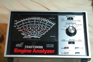 Craftsman Solid State Electronic Engine Analyzer 161 210400 Made In Usa