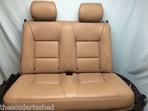 99 02 Saab 9 3 Convertible Oem Leather Rear Seat Bottom Back Set Tan