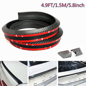 4 9ft Universal Gloss Carbon Fiber Trunk Spoiler Wing Rear Roof Tail Lip Trim 3d