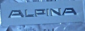 Bmw Genuine Oem Alpina Chrome Trunk Emblem Badge Brand New
