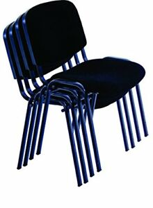 Allchairsanddesks Black Modern Stacking Church Chairs In Comfortable Cloth For