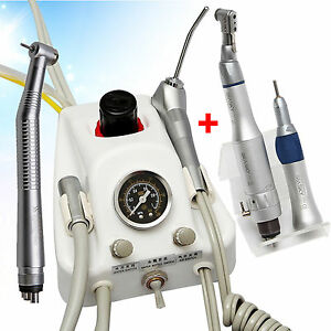 Dental Turbine Unit Work With Air Compressor W High Low Slow Speed Handpiece 4h
