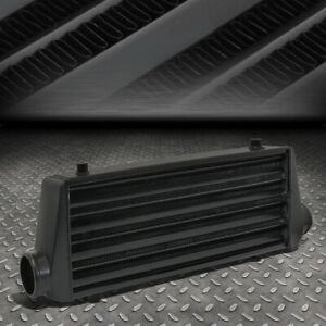 Black Aluminum 27 675 x8 5 x2 75 Tube fin Fmic Turbo Front Mount Intercooler