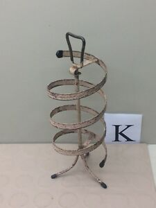 Vintage Spiral Store Countertop Metal Rotating Revolving Jewelry Display Rack