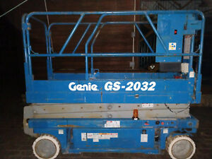 Genie Gs 2032 20 Electric Scissor Lift Aerial Manlift 24v Free Local Delivery