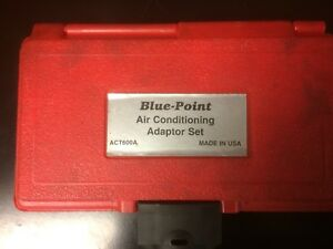 Blue Point Snap on Air Conditioning Adapter Set Act600a
