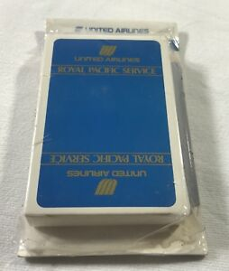 UNITED AIRLINES ROYAL PACIFIC SERVICE PLAYING CARDS PENCIL NOTE PAD NEW SEALED $4.50