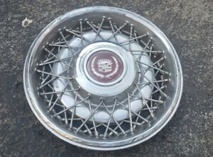 Oem 1986 92 Cadillac Fleetwood Brougham Rwd 15 Wire Spoke Hubcap Wheel Cover 17